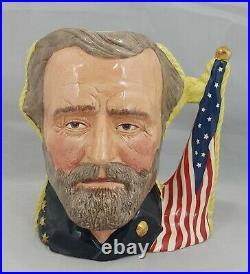 Royal Doulton Double Sided Character Jug Ulysses S. Grant/Robert E. Lee D6698 Lt