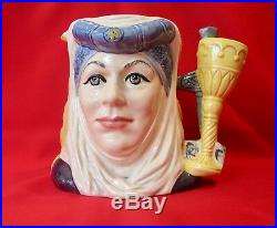 Royal Doulton Doubled D6836 King Arthur Guinevere Large character jug 6 (#1239)