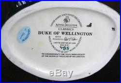 Royal Doulton Duke Wellington D7170 Character Jug Mint #485 Of Only 1000 Made