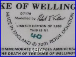 Royal Doulton Duke Wellington Toby Character Jug D7170 withBox Signed Ltd Ed 1000