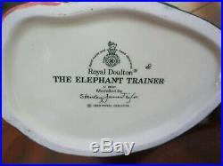 Royal Doulton Elephant Trainer D6841 & Snake Charmer D6912 Character Jugs Mint