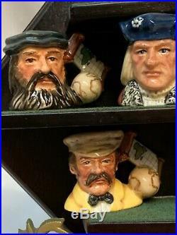 Royal Doulton Explorers Set- Small Toby Character Jug Set With COA