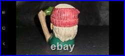 Royal Doulton Extremely Rare Prototype Character jug Miniature Lumberjack