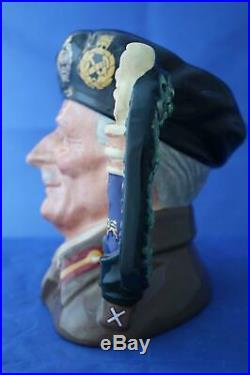 Royal Doulton Field Marshall Montgomery El Alamein D6908 Ltd Ed Character Jug