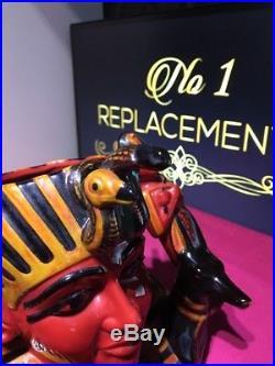 Royal Doulton Flambe The Pharaoh Large Character Jug D7028 1428/1500
