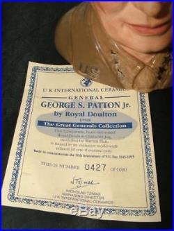 Royal Doulton GENERAL PATTON Large Toby Character Jug D7026 LTD ED of 1000 GOLD