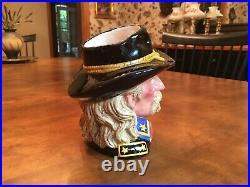 Royal Doulton General Custer 7 Character Toby Jug D7079 Rarely Seen