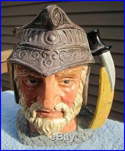 Royal Doulton Gladiator Character Large Toby Jug # 6550 7 3/4 Tall