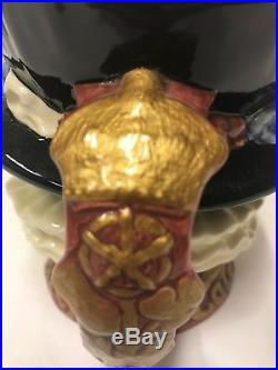 Royal Doulton Gold Handle Early Beefeater Character Jug exceptionally rare