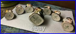 Royal Doulton HM King Henry VIII & His SIX/VI Wives Tiny Character Jugs+Stand
