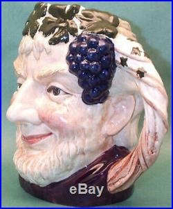Royal Doulton Hard To Find Bacchus Character Jug Stoke Jubilee Bs Exc. Condition
