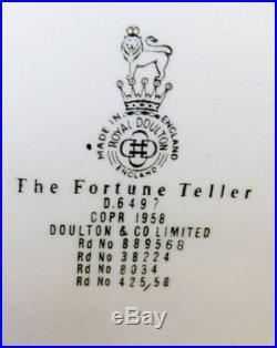 Royal Doulton JUG- CHARACTER JUG TOBY FORTUNE TELLER D6497 LARGE 1958-67