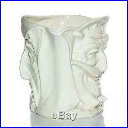 Royal Doulton JUG Character Mephistopheles White Glaze Devil Toby Mug
