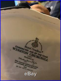 Royal Doulton Jug -Winston Churchill D6907 Character Jug of the Year 1992 Mint