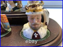 Royal Doulton King And Queens Of The Realm Tiny Character Jugs Set