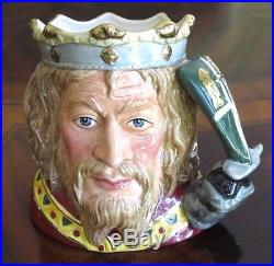 Royal Doulton King Arthur D7055 Toby Character Jug #1,359 of 1,500 withCert Mint