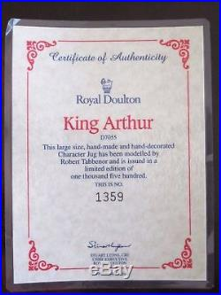 Royal Doulton King Arthur D7055 Toby Character Jug Ltd Ed 1,500 Signed withCOA