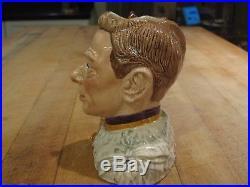 Royal Doulton King George VI & Queen Elizabeth II Character Jugs Toby Mugs