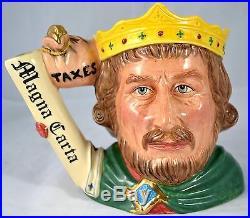 Royal Doulton King John Large Character Jug D7125 Mint Limited Edition