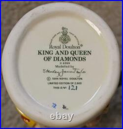 Royal Doulton King and Queen of Diamonds Clubs Hearts Spades 4 Small Toby Jugs