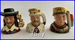 Royal Doulton Kings Queens Of The Realm Tiny Toby Character Jug Set Coa 743/2500