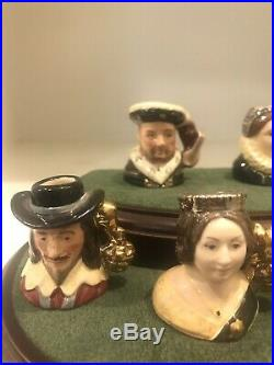 Royal Doulton Kings and Queens of Realm Tiny Character Jugs Limited Edition