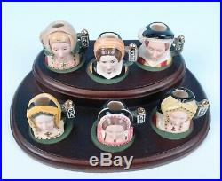 Royal Doulton LE 2500 Set of 6 Wives Henry VIII with Stand Tiny Toby Character Jug