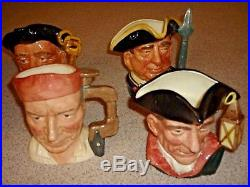 Royal Doulton Large 8 Character Toby Jugs Complete Williamsburg Collection