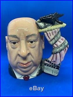 Royal Doulton Large Character Jug! Alfred Hitchcock! Pink Curtain! D6987! Rare