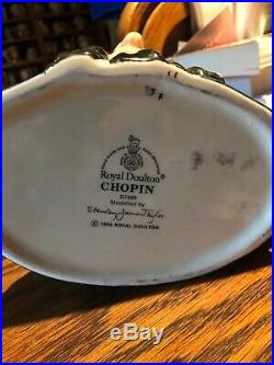 Royal Doulton Large Character Jug Chopin Great Composers Series