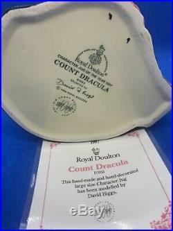 Royal Doulton Large Character Jug! Count Dracula! D7053! + Certificate! Mint