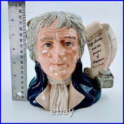 Royal Doulton Large Character Jug D6943 Thomas Jefferson President US. Pre-owned