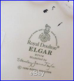 Royal Doulton Large Character Jug Elgar Composer Series D7118 1993 Ex