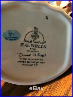 Royal Doulton Large Character Jug H G Wells Ltd. Edition of 1998