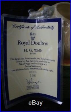 Royal Doulton Large Character Jug HG Wells D7095 Limited Edition