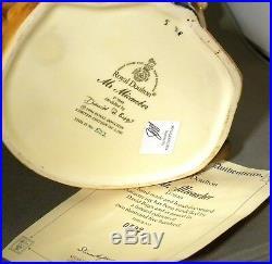 Royal Doulton Large Character Jug Mr Micawbwe D7040 Ltd Ed + Certificate