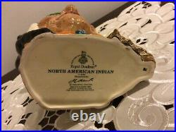 Royal Doulton Large Character Jug North American Indian D6786 New Colorway