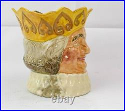 Royal Doulton Large Character Jug Old King Cole D6036 Yellow Crown