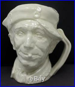 Royal Doulton Large Character Jug Pearly Boy White Glaze Very Rare