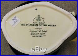 Royal Doulton Large Character Jug Phantom of the Opera Ltd Ed. #589 / 2500