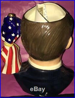 Royal Doulton Large Character Jug Ronald Reagan, President's Signature Edition