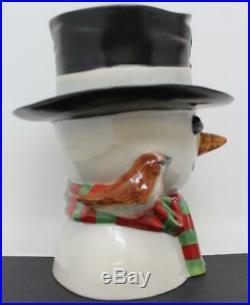 Royal Doulton Large Character Jug Snowman Little Girl Handle D7241 LE 430 / 500