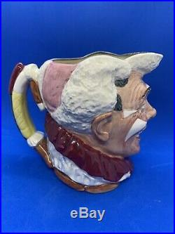 Royal Doulton Large Character Jug! The White Haired Clown! D6322! Mint! Rare