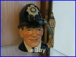 Royal Doulton Large Character Jug Toby The London Bobby D6744 Embossed Badge