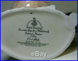 Royal Doulton Large Character Jug Williamsburg Cabinet Maker Club Le D7010 Rare