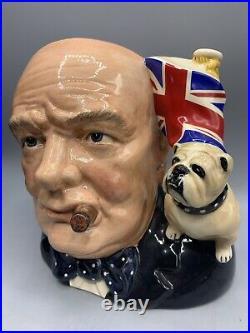 Royal Doulton Large Character Jug of the Year 1992 Winston Churchill D6907