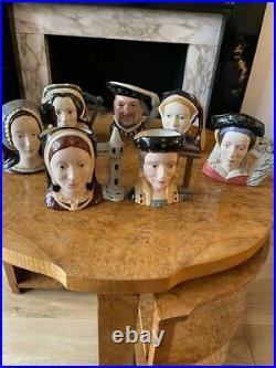 Royal Doulton Large Character Jugs Henry V111 And Six Wives