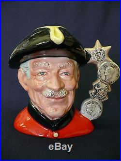 Royal Doulton Large Character Toby Jug Chelsea Pensioner D6817 issued 1988