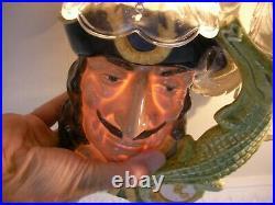 Royal Doulton Large Character Toby Jug D6597 Captain Hook Peter Pan Crocodile