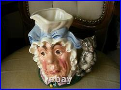 Royal Doulton Large Character Toby Jug D6842 Cook Cheshire Cat Alice Wonderland